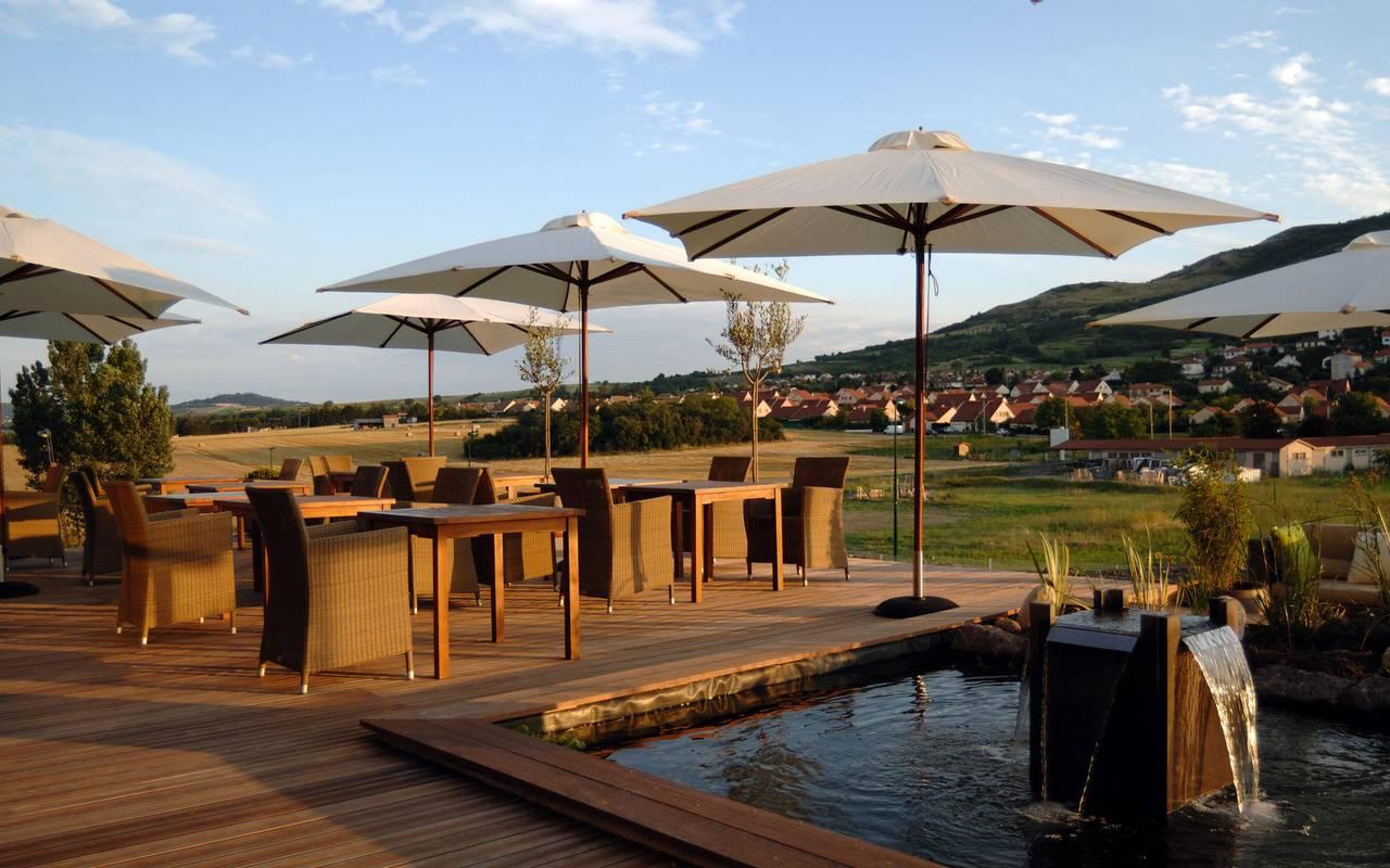 Terrace of the restaurant - restaurant clermont ferrand