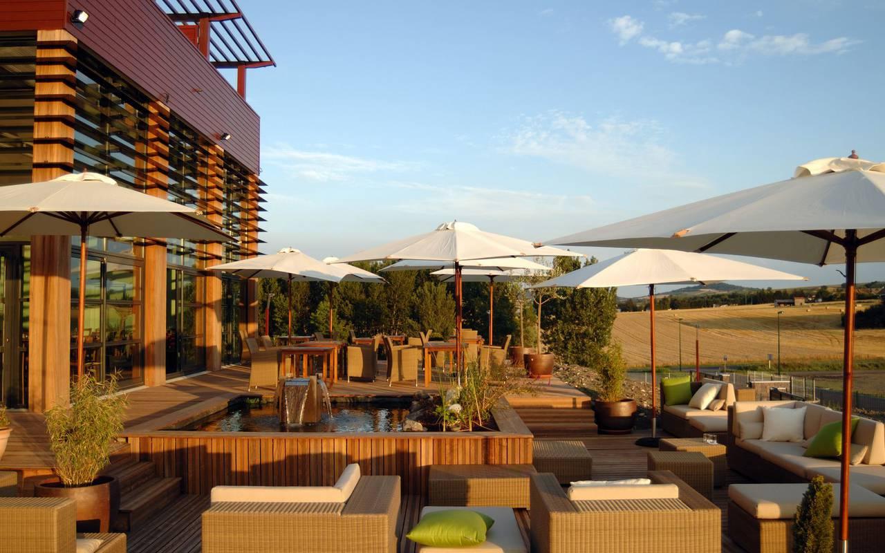 Terrasse - hotel autour de clermont ferrand
