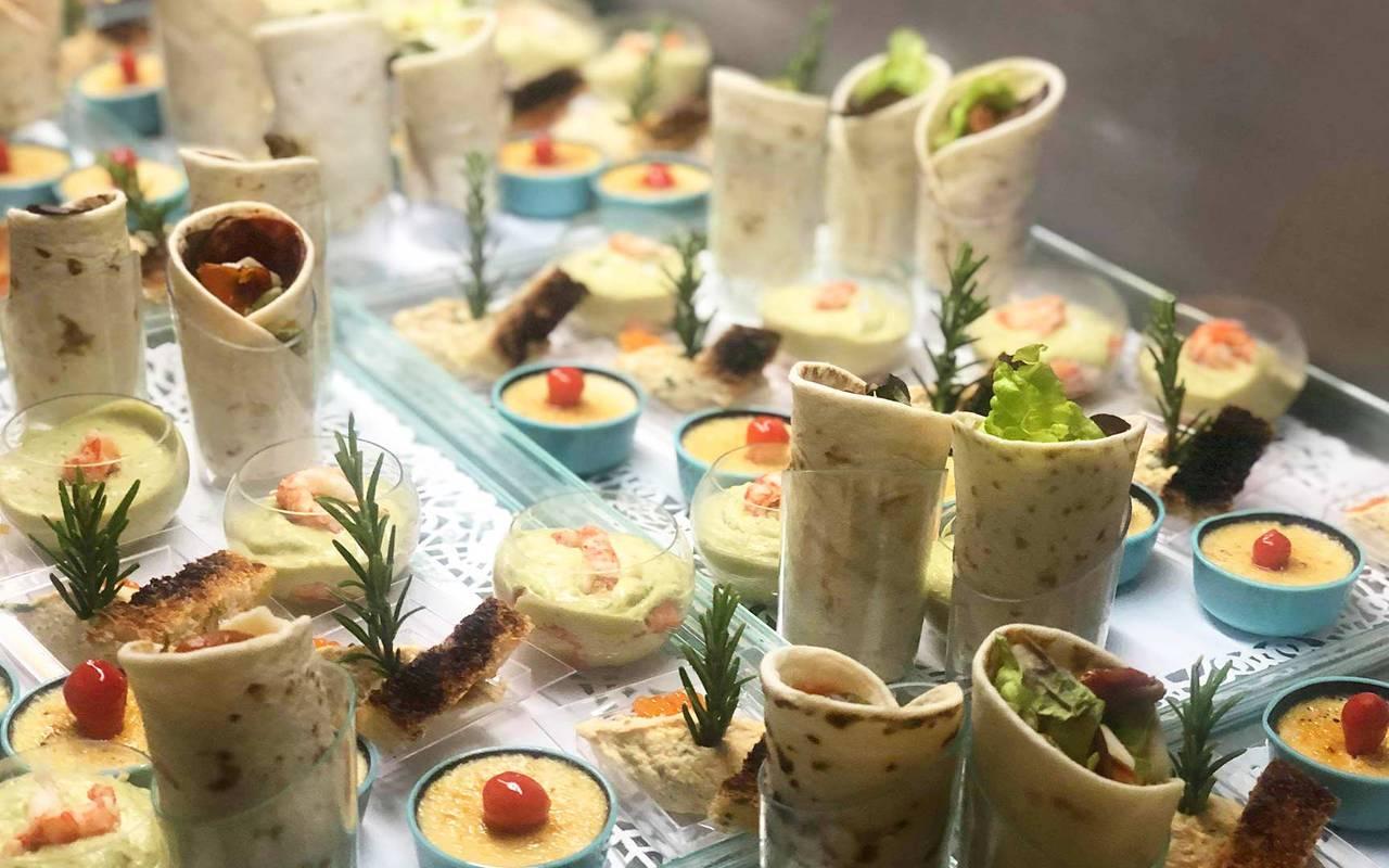 Wraps et crème brulée - séminaire clermont ferrand